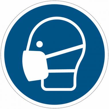 Panneaux et autocollants NF EN ISO 7010 Masque obligatoire - M016