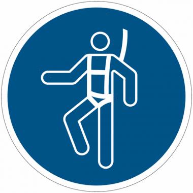 Panneaux et autocollants NF EN ISO 7010 Harnais de sécurité obligatoire - M018