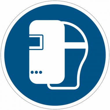 Panneaux et autocollants NF EN ISO 7010 Masque de soudage obligatoire - M019