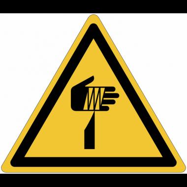 """Panneaux ISO 7010 """"Danger, éléments pointus, risque de coupure de la main"""" - W022"""