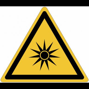 """Panneaux ISO 7010 """"Danger, rayonnement optique"""" - W027"""