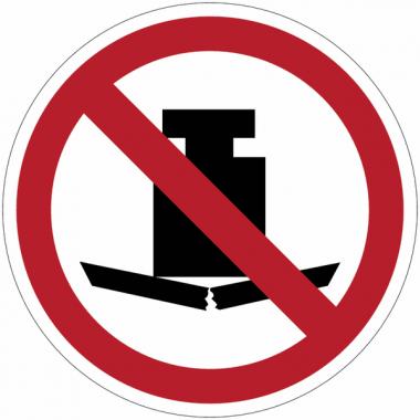 """Panneaux ISO 7010 d'interdiction de """"Charge lourde"""" - P012"""