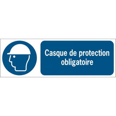 Panneaux ISO 7010 d'obligation à message horizontal - Casque de protection - M014