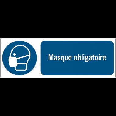 Panneaux ISO 7010 d'obligation à message horizontal - Masque - M016