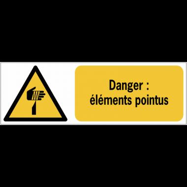 Panneaux ISO 7010 de danger à message horizontal - éléments pointus - W022