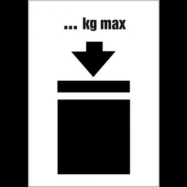 Etiquettes d'expédition ISO 780 - Poids maximum