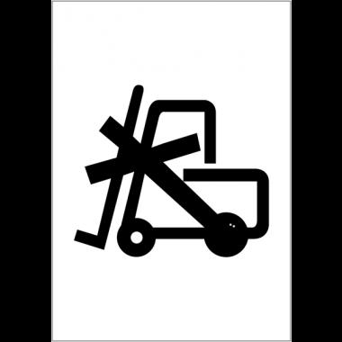 Etiquettes d'expédition ISO 780 - Utilisation du chariot élévateur interdite