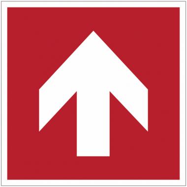 Pictogrammes NF EN ISO en aluminium Flèche directionnelle 90°
