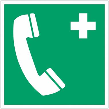 Panneaux et autocollants NF EN ISO 7010 Téléphone d'urgence - E004