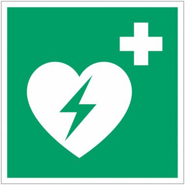 Panneaux et autocollants NF EN ISO 7010 Défibrillateur automatique externe pour le cœur - E010