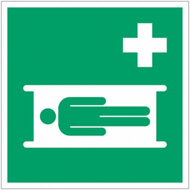 Panneaux et autocollants NF EN ISO 7010 Civière - E013