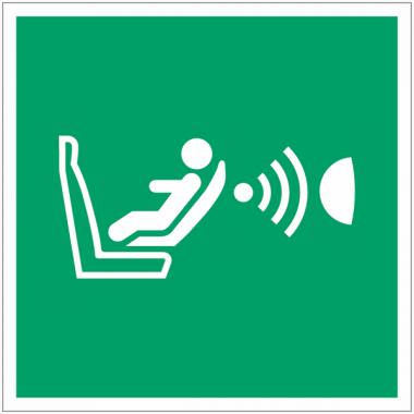 Panneaux et autocollants NF EN ISO 7010 Système de détection de la présence d'un siège enfant et de son orientation (CPOD) - E014