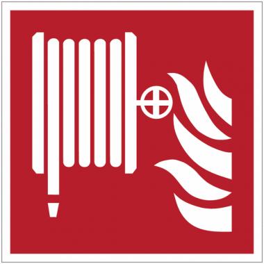 Pictogramme ISO 7010 en rouleau Robinet d'incendie armé - F002
