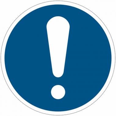 Panneaux et autocollants NF EN ISO 7010 Obligation Générale - M001
