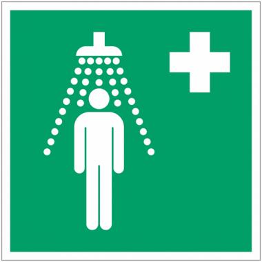 Pictogramme ISO 7010 en rouleau Douche de sécurité - E012