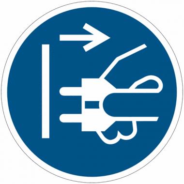 Pictogramme ISO 7010 en rouleau Débrancher la prise d'alimentation du secteur - M006