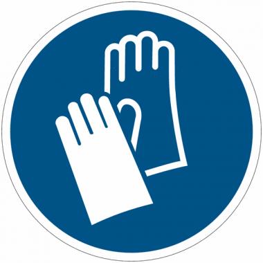 Pictogramme ISO 7010 en rouleau Gants de protection obligatoires - M009