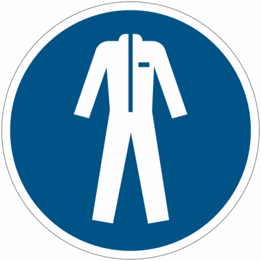 Pictogramme ISO 7010 en rouleau Vêtements de protection obligatoires - M010