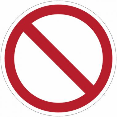 Panneaux et autocollants NF EN ISO 7010 Interdiction Générale - P001