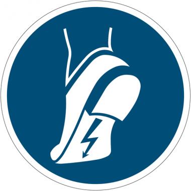 Pictogramme ISO 7010 en rouleau Chaussures antistatiques obligatoires - M032