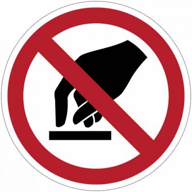 Pictogramme ISO 7010 en rouleau Interdiction de toucher - P010