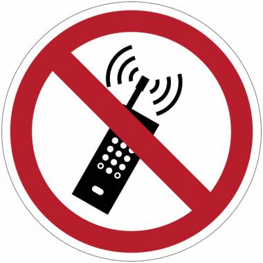 Panneaux et autocollants NF EN ISO 7010 Interdiction d'activer des téléphones mobiles - P013
