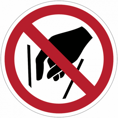 Pictogramme ISO 7010 en rouleau Ne pas mettre les mains - P015