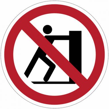 Panneaux et autocollants NF EN ISO 7010 Interdiction de pousser - P017