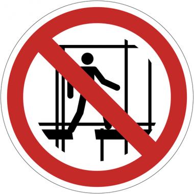 Panneaux et autocollants NF EN ISO 7010 Ne pas utiliser un échafaudage incomplet - P025
