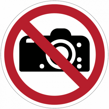 Panneaux et autocollants NF EN ISO 7010 Interdiction de photographier - P029