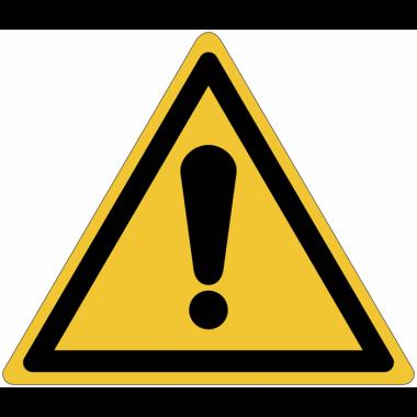 Pictogramme ISO 7010 en rouleau Danger Général - W001