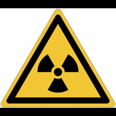 Panneaux et autocollants NF EN ISO 7010 Matières radioactives ou radiations ionisantes - W003