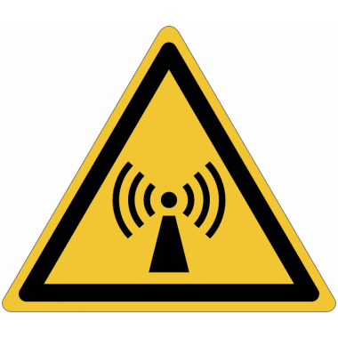 Pictogramme ISO 7010 en rouleau Danger Radiations non ionisantes - W005