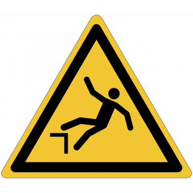 Pictogramme ISO 7010 en rouleau Danger Chute avec dénivellation - W008