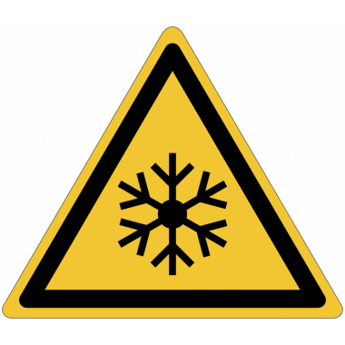 Pictogramme ISO 7010 en rouleau Danger Basses températures, conditions de gel - W010