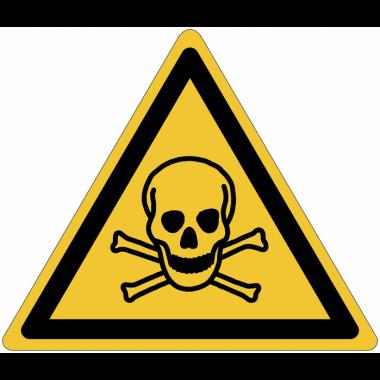 """Lot de 3 rouleaux de pictogrammes """"Matières toxiques"""" NF EN ISO 7010 (2+1 gratuit)"""