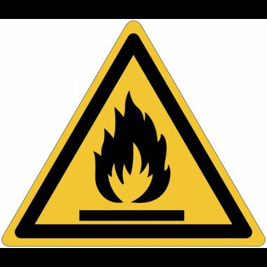 Panneaux et autocollants NF EN ISO 7010 Matières Inflammables - W021