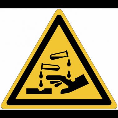 Pictogramme ISO 7010 en rouleau Danger Substances corrosives - W023