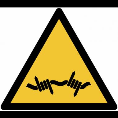 Panneaux et autocollants NF EN ISO 7010 Fil barbelé - W033
