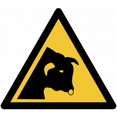 Pictogramme ISO 7010 en rouleau Danger Taureau - W034