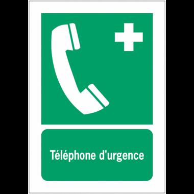 Panneaux NF EN ISO 7010 A3/A4/A5 Téléphone d'urgence - E004