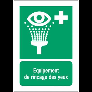 Panneaux NF EN ISO 7010 A3/A4/A5 Equipement de rinçage des yeux - E011