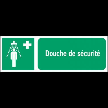 Panneaux ISO 7010 horizontaux Douche de sécurité - E012