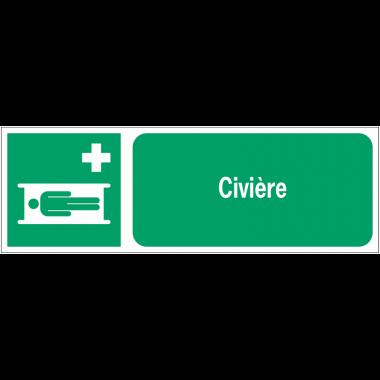 Panneaux ISO 7010 horizontaux Civière - E013
