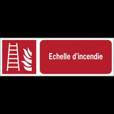 Panneaux ISO 7010 horizontaux Echelle d'incendie - F003