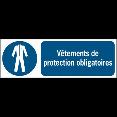 Panneaux ISO 7010 horizontaux Vêtements de protection obligatoires - M010