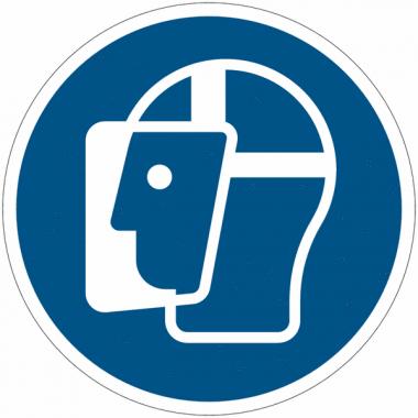 Pictogramme ISO 7010 en rouleau Visière de protection obligatoire - M013
