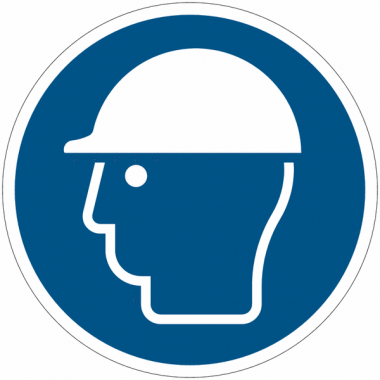 Pictogramme ISO 7010 en rouleau Casque de protection obligatoire - M014