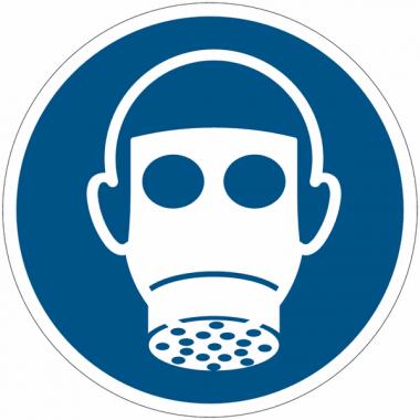 Pictogramme ISO 7010 en rouleau Protection des voies respiratoires obligatoire - M017