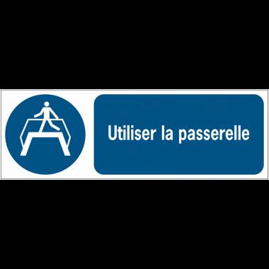 Panneaux ISO 7010 horizontaux Utiliser la passerelle - M023